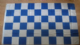 Blue and White Checkered Large Flag - 5' x 3'.